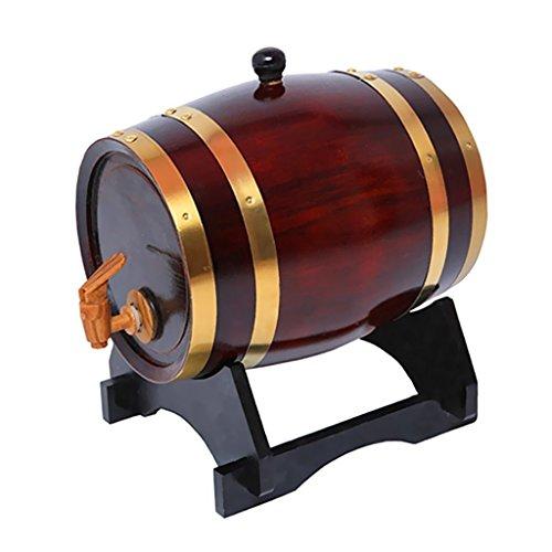 1.5L Weinfass Getränkespender Fass Holz Whiskyfass Eichenfass Geschenk Fass für Schnaps oder Wein
