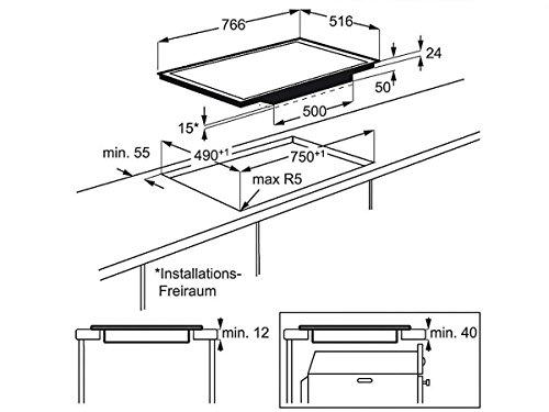 AEG HKM89400X-G Induktion Glaskeramik Kochfeld Kochstelle Induktionszone Auflage - 2