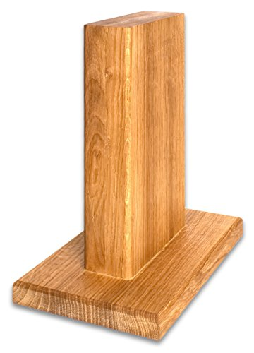 Woodastic Messerblock | magnetisch | Eiche, Nussbaum, Buche, Fichte | Made in Germany Messerhalter | Messerständer | sichere Messeraufbewahrung (Eiche)