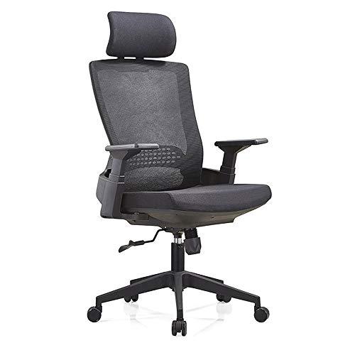 RUNXIAN Silla de ordenador ergonómico silla de oficina que compite con respaldo y asiento ajustable Altura de la silla reclinable...