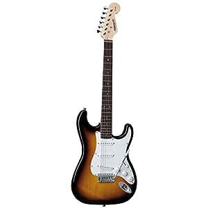 fender starcaster strat electric guitar 3 tone sunburst musical instruments. Black Bedroom Furniture Sets. Home Design Ideas