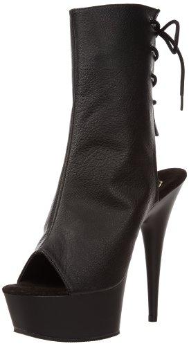 Pleaser - Delight 1018, Stivali Donna Black (Blk Faux Leather/Blk)