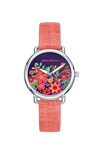 Mark Maddox Damen Analog Quarz Uhr mit Stoff Armband MC2001-03