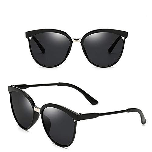 CLZC Süßigkeiten Markendesigner Cat Eye Sonnenbrille Frauen Kunststoff Sonnenbrille Retro Outdoor,Graue Linse