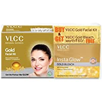VLCC Gold Facial Kit with Free Gold Bleach, 30 g
