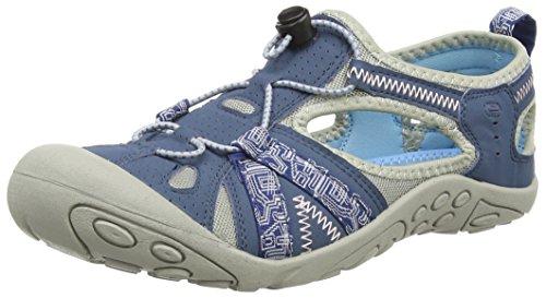 Northwest Territory, sandali da trekking Carolina per donne, ragazze e bambine, (BLUE), 7 UK