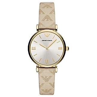 Emporio Armani Reloj Analógico para Mujer de Cuarzo con Correa en Cuero AR11127