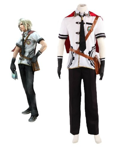 Final Fantasy Type-0-Rosefinch Ace sommer Cosplay Kostüm, Größe S:(165-170 CM) (Final Fantasy Type 0 Sommer Kostüm)