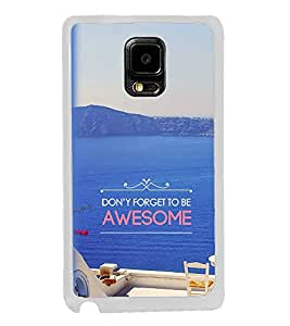 FUSON Designer Back Case Cover for Samsung Galaxy Note 4 :: Samsung Galaxy Note 4 N910G :: Samsung Galaxy Note 4 N910F N910K/N910L/N910S N910C N910Fd N910Fq N910H N910G N910U N910W8 (Beautiful beach design Blue color design Lettering design Nice design wonderful blue color design)