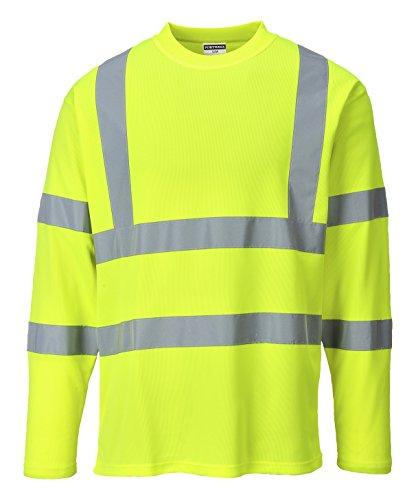 Portwest S278YERM Maglietta Manica Lunga Alta Visibilità Classe 3, Giallo, M