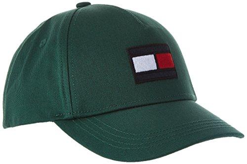 Tommy Hilfiger Unisex Baseball Big Flag Cap, Grün (Hunter Green 340), Medium (Herstellergröße: S-M)