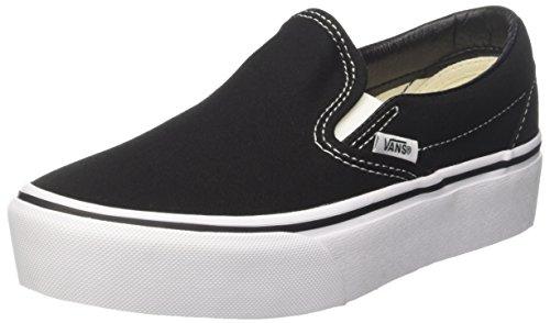 Vans Damen Classic Slip-on Platform Sneaker, Schwarz (Black Blk), 38 EU