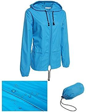 [Patrocinado]Lonlier Ropa de abrigo impermeable chubasquero de las mujeres