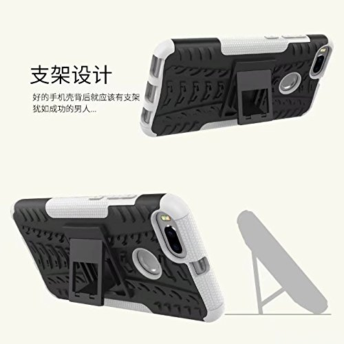 YHUISEN Xiaomi Mi5X Case, Hyun Pattern Dual Layer Hybrid Armor Kickstand 2 in 1 Shockproof Case Cover für Xiaomi Mi5X / Mi 5X ( Color : Purple ) Orange