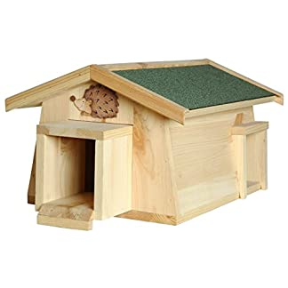 luxus-insektenhotels mecki 22216e hedgehog house with 2 entrances/protection from cats Luxus-Insektenhotels Mecki 22216e Hedgehog House with 2 Entrances/Protection from Cats 41BXiePMgXL