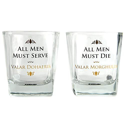 Game of Thrones Whiskeygläser im 2er Set - Whiskyglas Whiskey Tumbler Whisky Tumbler -