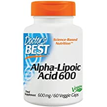 Doctors Best Alpha Lipoic Acid (600mg, 60 Vegetarian Capsules)