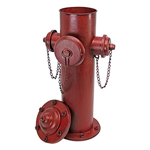 Design Toscano Vintage Metal Fire Hydrant Statue