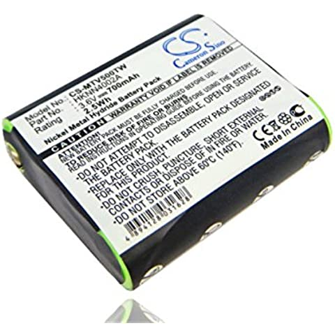 vhbw Ni-MH Batteria 700mAh (3.6V) per Walkie Talkie Radio Motorola