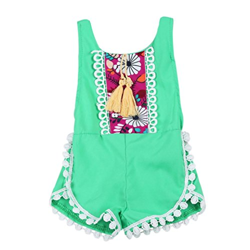 Sommer Romper Kleidung Bescita junge 盲rmellose Kind florale Overall M盲dchen Baby Gr眉n sch枚ne Outfits qfdHTd