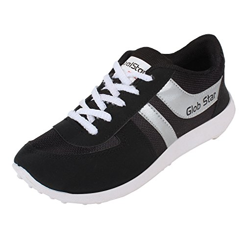 Bersache Men's Black Sports Shoes (Running Shoes) (9 UK)  available at amazon for Rs.198