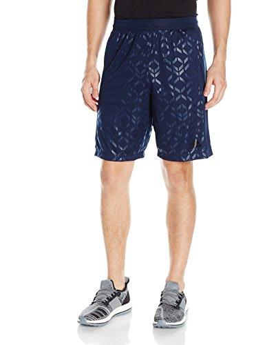 Adidas–Pantaloni da allenamento velocità interruttore printed Tech shorts Collegiate Navy/Black