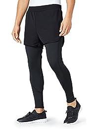 FIND Pantalón Corto con Mallas de Deporte para Hombre