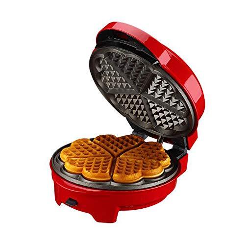 Waffle maker con piastre estraibili casalinghi multifunzione ciambella cupcake pizza maker colazione fornello,red,1234