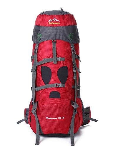 ZQ 75 L Radfahren Rucksack Camping & Wandern Draußen Wasserdicht / Schnell abtrocknend / tragbar / Atmungsaktiv andere Nylon / Terylen other Black