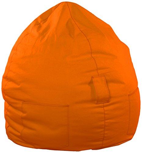 Kinzler S-10053/38 Sitzsack Kimi, ca. Ø65 x H75 cm, klassische Tropfenform, Outdoor Indoor, in vielen verschiedenen Farben, mit Innensack, orange