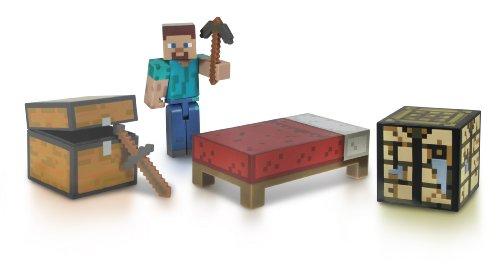Giochi Preziosi Minecraft - 2421 - Figurine Animation - Coffret Survie avec Accessoires