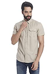 Jack & Jones Mens Casual Shirt (5713235798813_12115499Beige_X-Large)