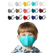 Enter the Complex® Mondkapjes Wasbar op 60 Graden met Filtervakje, 1Pcs, Masker Stof, Mondneusmasker van Jersey Katoen, zacht masker voor kinderen tot 6 jaar, Maat S, Zwart