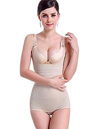 KOOYOL Femme guepiere sexy Bustiers Minceur Efficace Lingerie Sculptante  Amincissant Body Shaper b8d4a8bb76c
