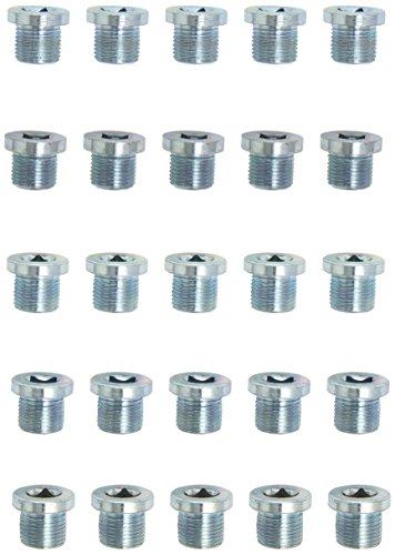 KS tools ölablassschraube innen4kant, 8 mm m18 x 1,5 x 16 mm-pack de 25 pièces, 430.2159