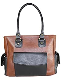 Fargo Cozy PU Leather Women's & Girl's Shoulder Handbag (Brown,Black_FGO-023)