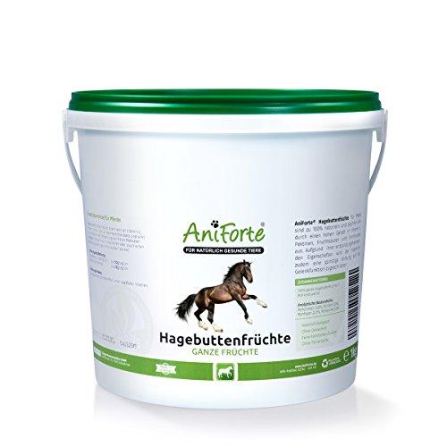 Preisvergleich Produktbild AniForte Hagebutten Ganze Früchte naturrein 1 kg glutenfrei Vitamin C hoher Fruchtgehalt - Natur Pur mit Ganzen Hagebutte-Früchte für Pferde und Tiere