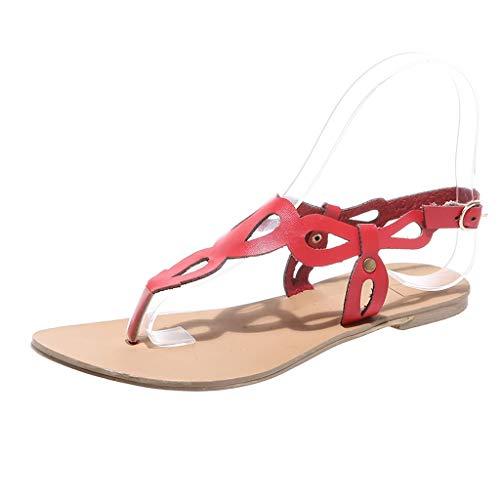 ODRD Schuhe Herren Frau Wohnungen Sommer Sandalen Mode Casual Schuhe Rom Stil Gladiator Sandalen Casual Flache Flip Flops Hausschuhe Strandschuhe Massage Schuhe Worker Sport (Frau Von Rom Kostüm)