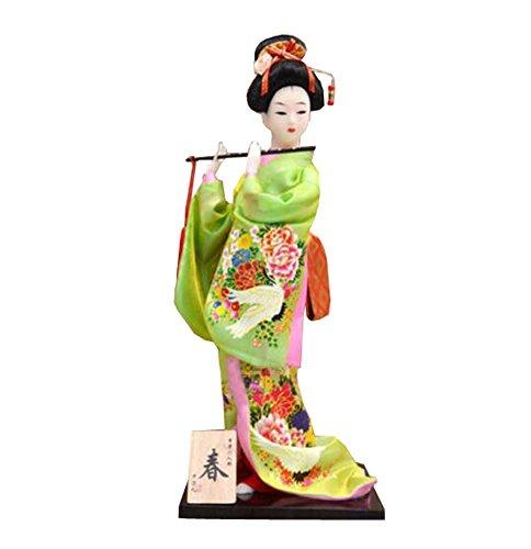 """12 \""""japanische traditionelle Vintage Kimono Tuch Geisha Puppe Figur - zufällig - A9"""