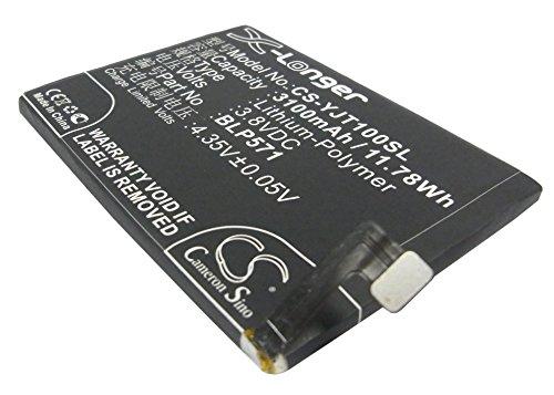 CS-YJT100SL Batteria 3100mAh compatibile con [ONEPLUS] A0001, One sostituisce BLP571