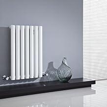 Milano Hudson Reed - Radiador de Diseño Horizontal - Blanco - 635mm x 415mm x 55mm