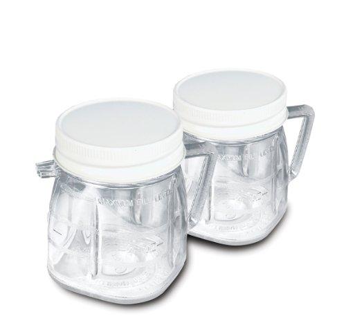 Oster 004888-011000-I - Pack de 2 minivasos con tapa