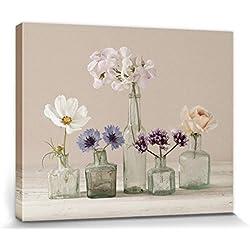 1art1® Flores - Orquídeas, Margaritas, Rosas Y Acianos, Ian Winstanley Cuadro, Lienzo Montado Sobre Bastidor (50 x 40cm)