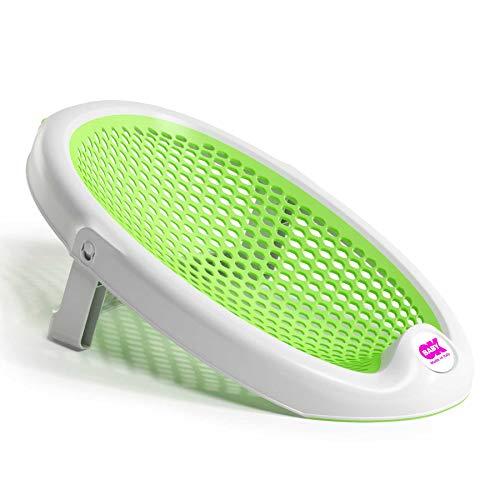 Ok Baby - Jelly 39104440- sdraietta da bagno richiudibile, morbida e confortevole per il bagnetto noenato 0-8mesi (8kg) Verde