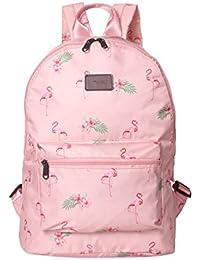 9936f76df2a91 Boomly Damen Mädchen Flamingos Rucksack Schüler Schulranzen Mode tragbar  Schultertasche Draussen Reise Handtasche