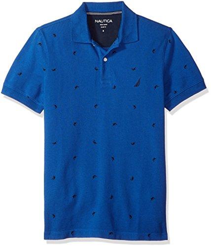 Nautica K81110, Polo para Hombre, Azul (Monaco Blue), Medium (Tamaño del Fabricante:M)