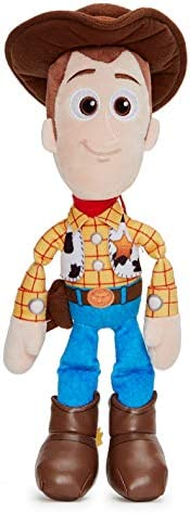 Disney 37267 Pixar Toy Story 4 Woody Soft Doll en Caja de Regalo 25 cm, Color Azul