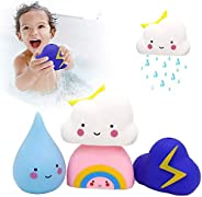 Baby Bath Toy Soft Watering Bath Toys for Toddlers, Swimming Pool Toys Gift Set, Baby Hair Wash Tool, Pack of
