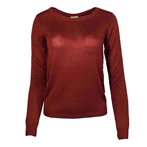 VERO MODA -  Maglione  - Donna, Rosso (rosso), XL