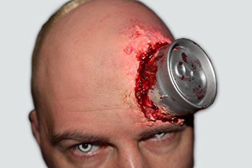Psycho Can-Halloween-Dose im Kopf-FX Set-Latex-Schminke-Make up-Horror (Halloween Gesicht Zombie)